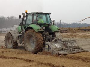 Stabilizacja gruntu - mieszanie spoiwa z gruntem